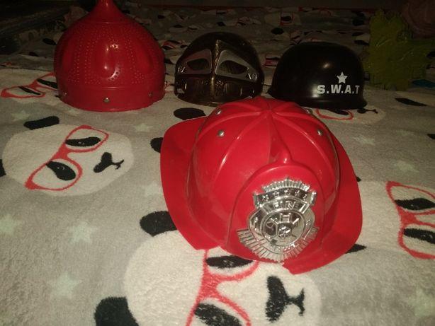 набор из шлем пожарного, полиция . рыцарь цена за 4 шлема 100 грн