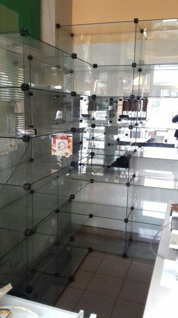 Regał szklany