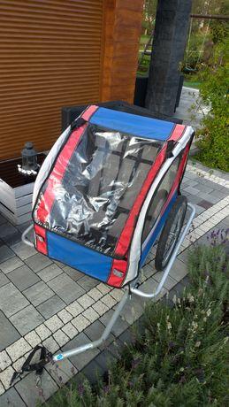 Przyczepka rowerowa riksza wózek rowerowy dziecięcy na 2 dzieci 45kg