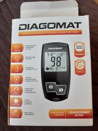Glukometr Diagomat-zestaw do pomiaru poziomu glukozy we krwi.