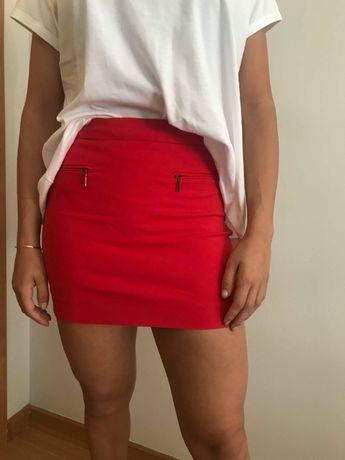 Mini-saia vermelha Mango