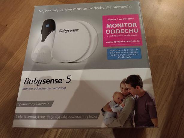 J. NOWY monitor oddechu dla niemowląt Baby sense 5