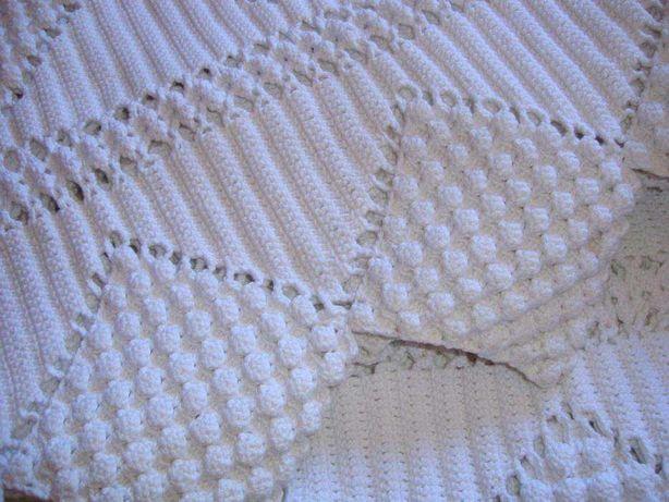 Colcha de renda crochet feita à mão NOVA