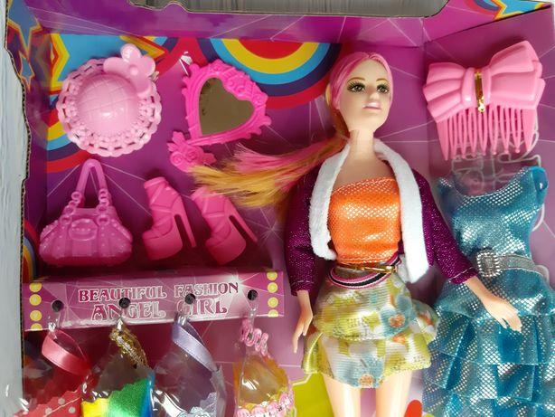 Кукла с аксессуарами и платьями с нарядами одеждой Барби новая