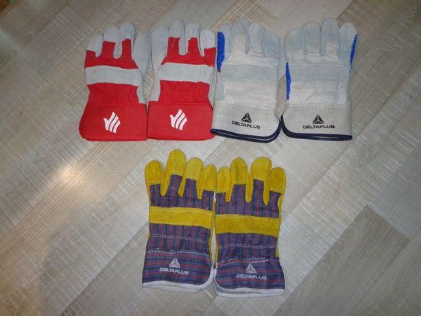 Перчатки рабочие кожаные DELTAPLUS, India, толста кожа.