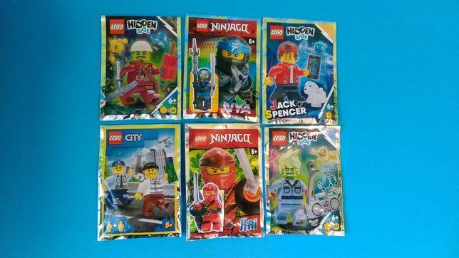 LEGO figurki nowe z magazynów ninjago,city,hiden side