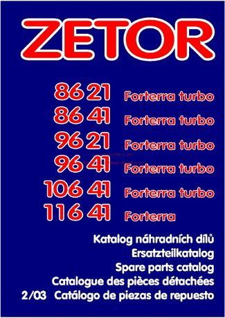 Katalog części Zetor od 8621, 8641 do 11641