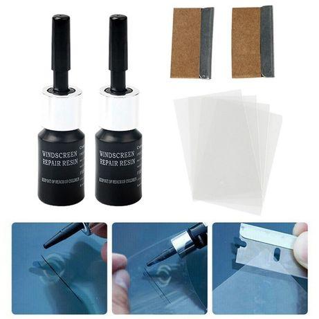 Набір 2 клею полімер-клей раствор для ремонту склеювання скла, вікон