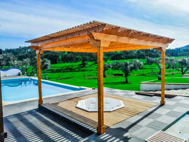Pergolas, Deck, Pavimentos de Madeira, Eco Structures, Homes, Glamping