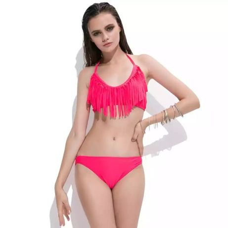 Różowy dwuczęściowy strój kąpielowy, rozmiar S