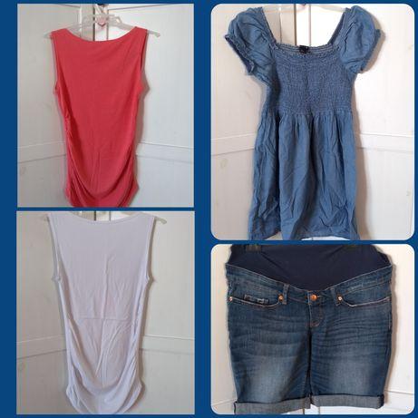 Sukienka szorty bluzka ciążowa zestaw h&m
