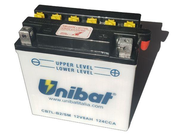 Akumulator Unibat CB7L-B2 YB7L-B2 8Ah 124A 12V NOWY