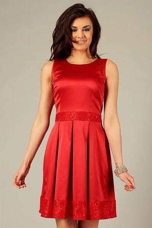 Sukienka czerwona - wesele/ wiosna/ lato