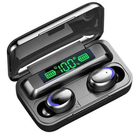 Słuchawki bezprzewodowe bluetooth wodoodporne + powerbank 2000mah