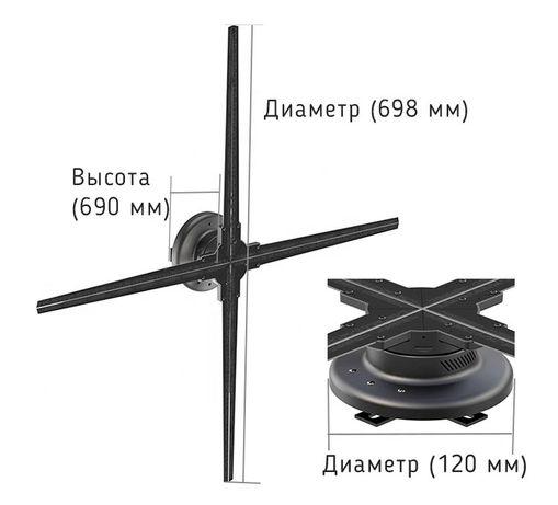 Светодиодный (голографический) вентилятор