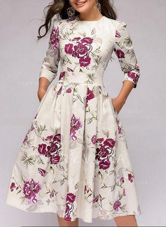 Sukienka damska kwiaty M