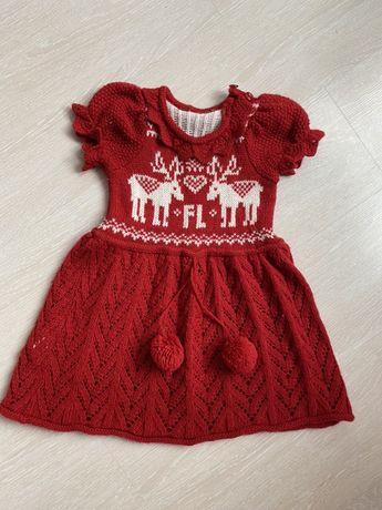 Красивейшее теплое вязаное платье
