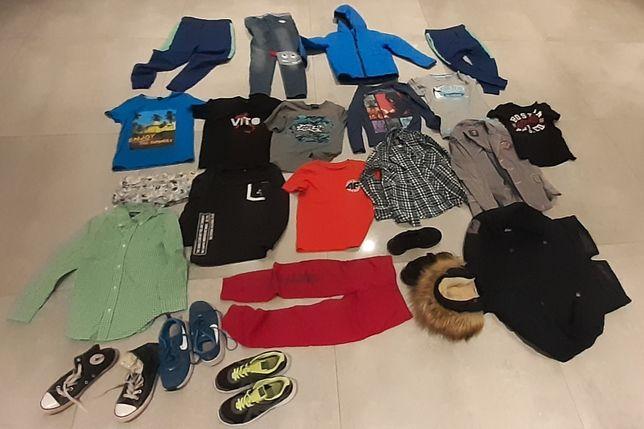 Duża paka rzeczy chłopiec 134 buty kurtki spodnie