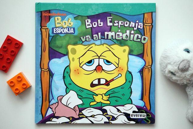 Bob Esponja va al médico - hiszpańska książka dla dzieci