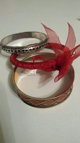 Bransoletka - czerwona, złota , srebrna!