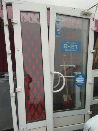Входная металлопластиковая дверь 140*220