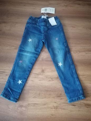 Nowe jeansy ocieplane rozmiar 110 (5.10.15)