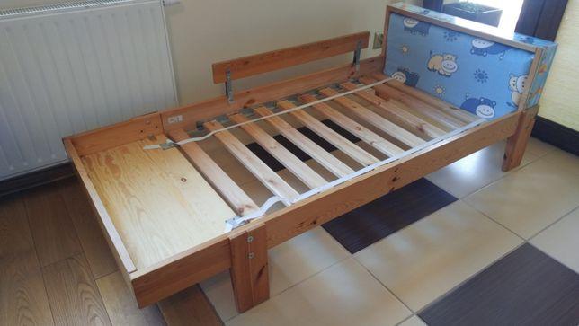 Łóżko stelaz drewniany, regulowany, rośnie wraz z dzieckiem stan BDB