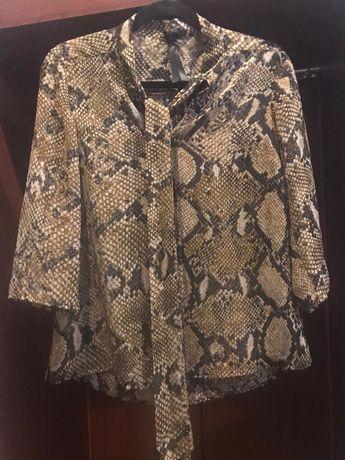 elegancka bluzka, cienka, z wiązaneim