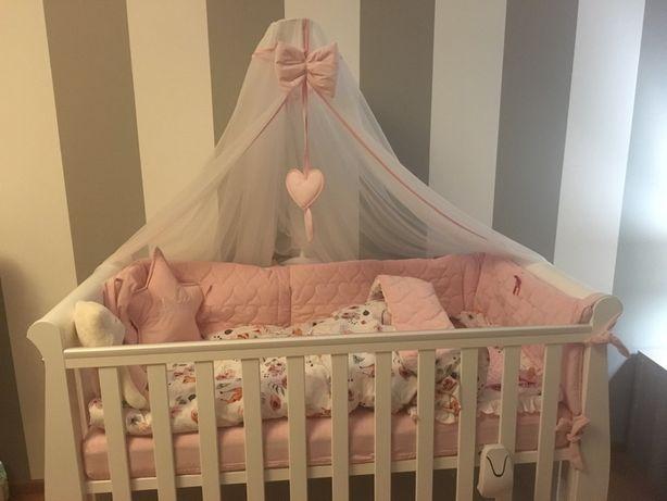 Łóżeczko dziecięce Misza z materacem Rucken