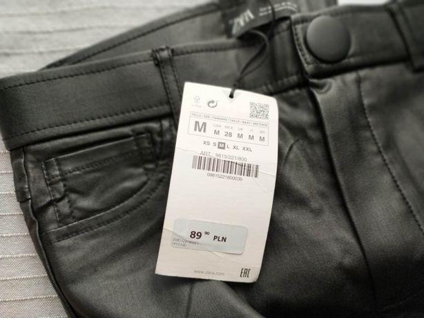 Skórzane legginsy Zara rozm. M (bardziej jak S)