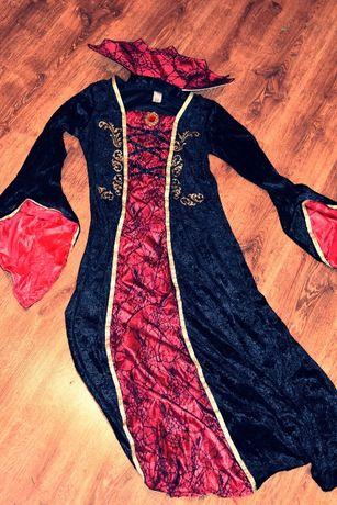 Strój czarownica wampir drakula L Morticia wampirzyca kostium