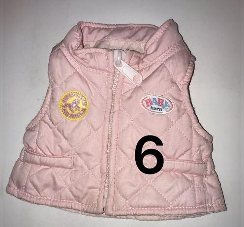 Жилетка розовая подходит для кукол Baby Born