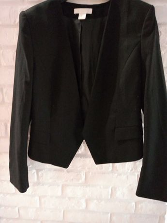 Czarny żakiet H&M 40