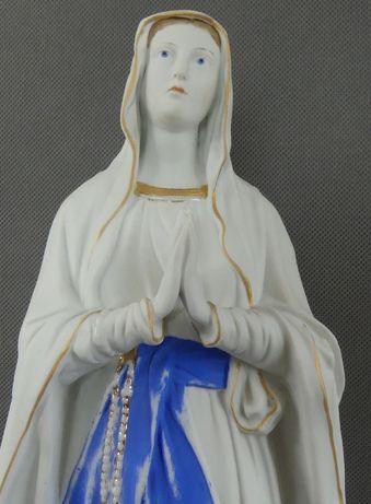 Figura Matka Boża z Lourdes MARYJA biskwit 42 cm