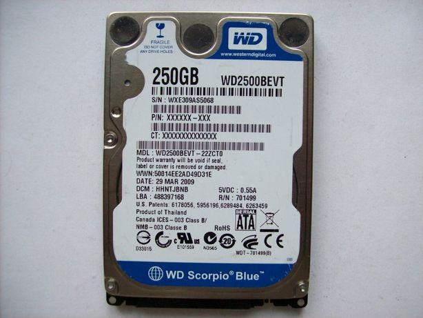 "2,5"" dysk do laptopa Seagate WD Samsung Hitachi Toshiba - 250GB - SATA"