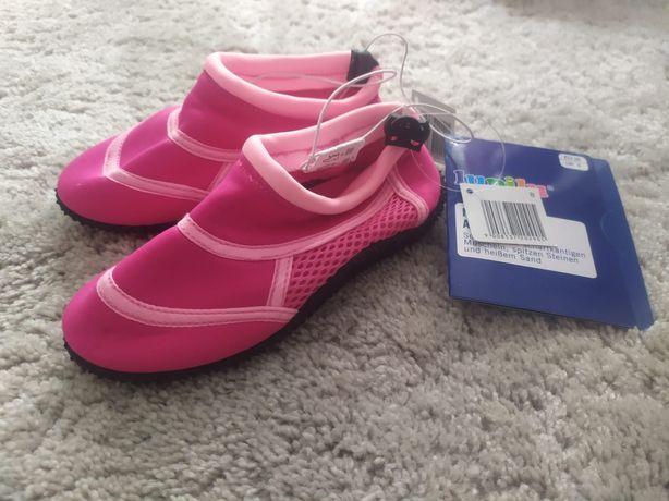 Nowe buciki buty do wody na plaże do pływania dziewczęce dziecięce 26