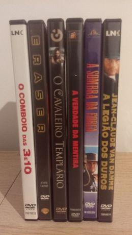 6 DVDs de filmes de ação