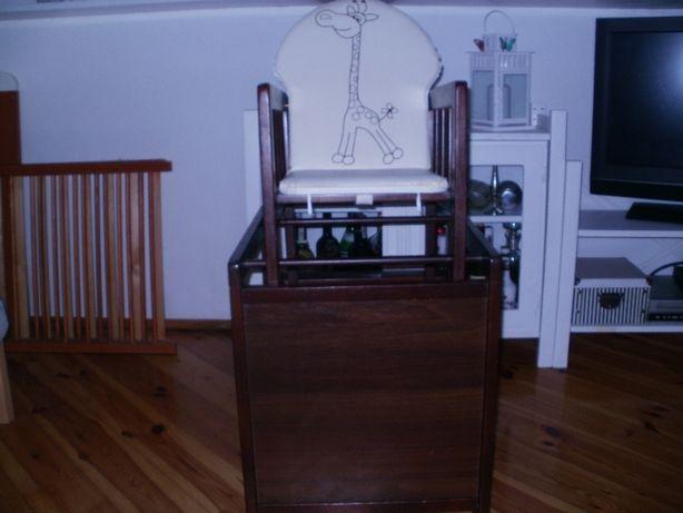 Krzesełko-stolik drewniane dla dziecka