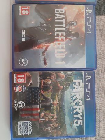 Gry PS4 Battlefield 1 oraz Far Cry 5
