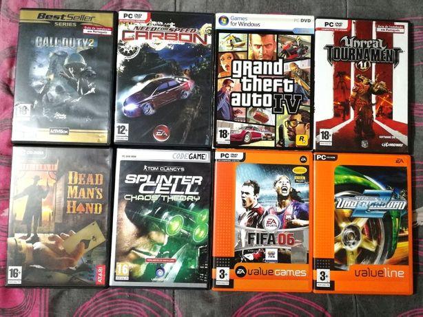 Jogos de computador originais - GTA IV , Unreal Tournament 3, etc