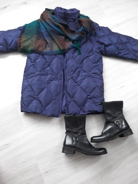 Zestaw :puchowa kurtka(M-L) +buty nieaktualne! chusta+wysyłka gratis!