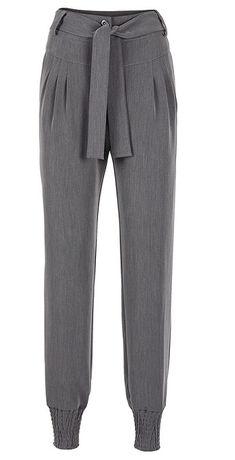 szare spodnie ściagane na dole