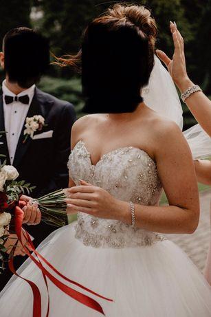 Suknia ślubna/ księżniczka