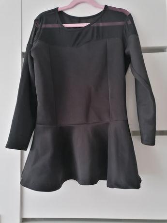 Bluzka czarna baskinka