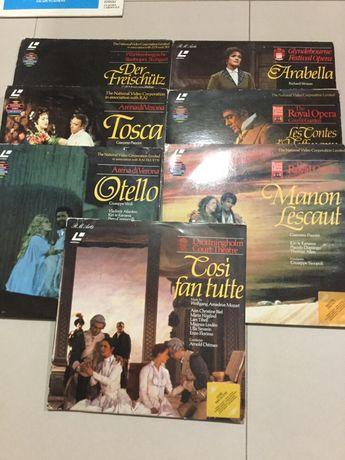 Discos vídeo ópera