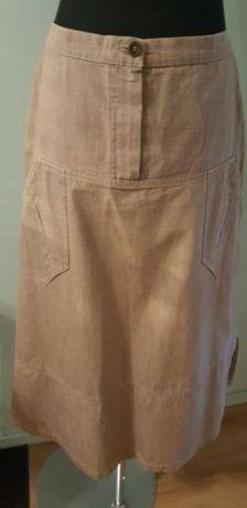 SPÓDNICZKA midi, 100 % bawełna, spódnica długa, rozmiar 42