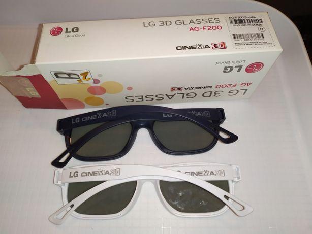 Okulary 3 D do tv Glasses 2 sztuki