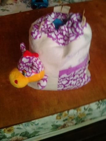 Детский рюкзак вилюровый