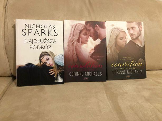 2 książki serii Consolation + Nicholas Sparks
