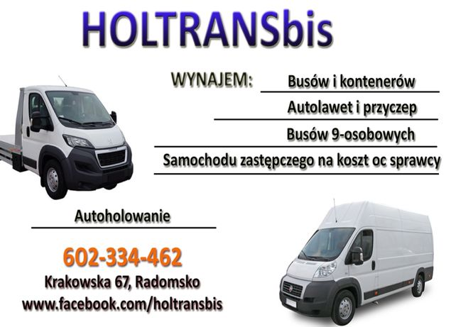Pomoc drogowa, wynajem autolawety, lawety, busy, meblowozy, aut 9-osob